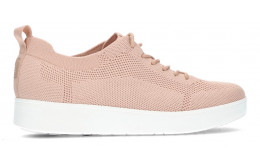 FITFLOP RALLY TONAL KNIT SNEAKERS BLUSH