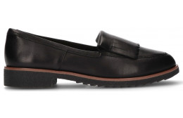 CLARKS GRIFFIN KILT LOAFERS  BLACK